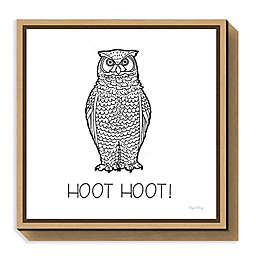 Amanti Art Color the Forest V Hoot Hoot Framed Canvas Wall Art