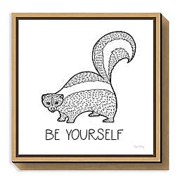 Amanti Art Color the Forest X Be Yourself Framed Canvas Wall Art