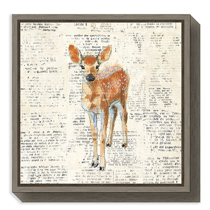 Alternate image 1 for Amanti Art® Emily Adams Animals 16-Inch Square Framed Canvas in Grey
