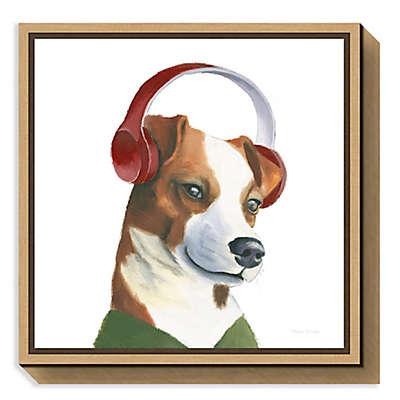 Amanti Art The Boys V Dog Framed Canvas Wall Art