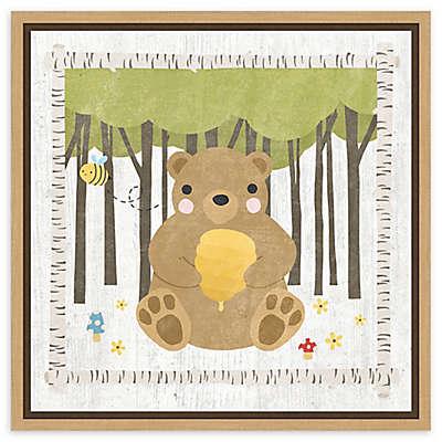 Amanti Art Woodland Hideaway Bear Framed Canvas Wall Art