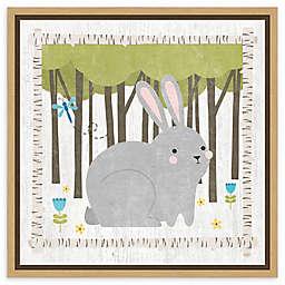 Amanti Art Woodland Hideaway Bunny Framed Canvas Wall Art
