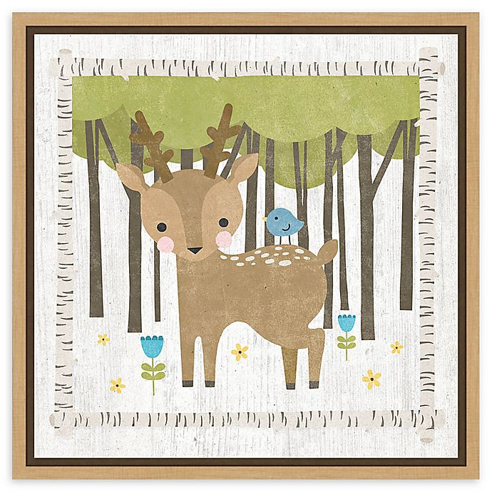 Alternate image 1 for Amanti Art Woodland Hideaway Deer Framed Canvas Wall Art