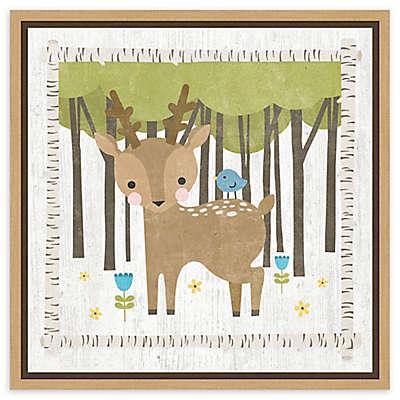 Amanti Art Woodland Hideaway Deer Framed Canvas Wall Art