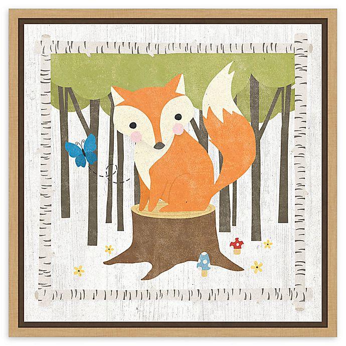 Alternate image 1 for Amanti Art Woodland Hideaway Fox Framed Canvas Wall Art