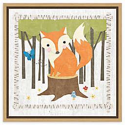 Amanti Art Woodland Hideaway Fox Framed Canvas Wall Art