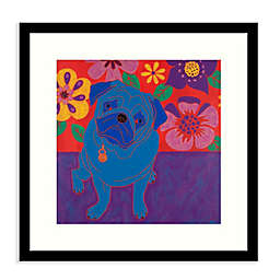 Amanti Art® Perspicacious Pug 17-Inch Square Framed Wall Art