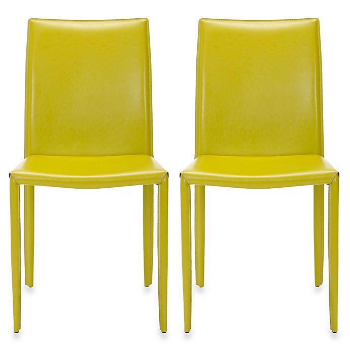 Safavieh Karna Dining Chair: Buy Safavieh Karna Dining Chair (Set Of 2) In Green From