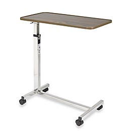 Drive Medical Tilt Top Overbed Table in Walnut