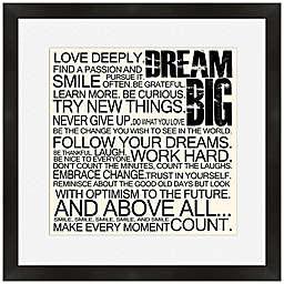 Dream Big Framed Wall Art
