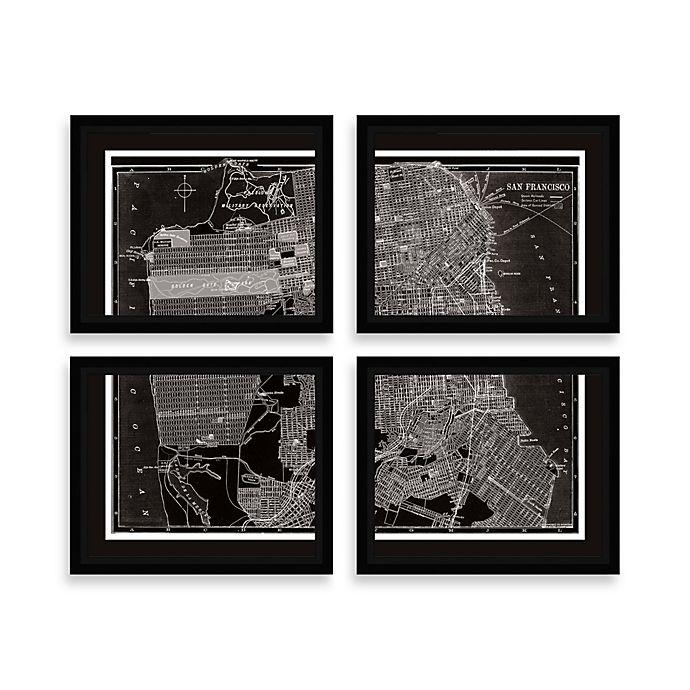 San Francisco Map Four-Piece Wall Art
