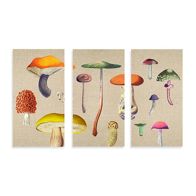 Canvas Mushroom Wall Art Set