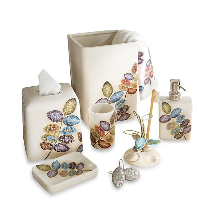 Croscill Mosaic Leaves Bath Accessory Collection Bed Beyond