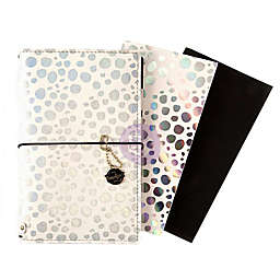 Prima Marketing® Iridescent Dots Travel Journal Starter Set