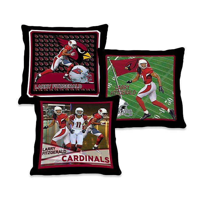 60a5e2d0 Biggshots Larry Fitzgerald Action Sports 18-Inch Toss Pillow | Bed ...