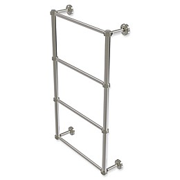 Allied Brass Dottingham Collection 4-Tier Ladder Towel Bar with Dotted Detail