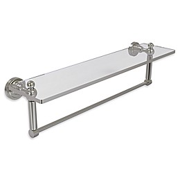 Allied Brass Dottingham Glass Vanity Shelf with Integrated Towel Bar
