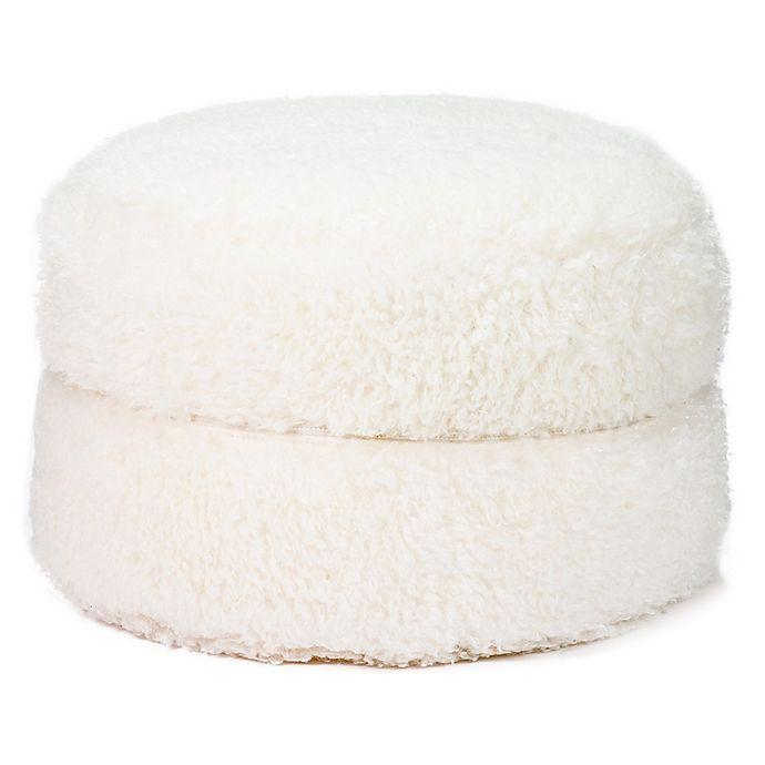 Alternate image 1 for Mimish® Faux Fur Storage Pouf in Vanilla Bean