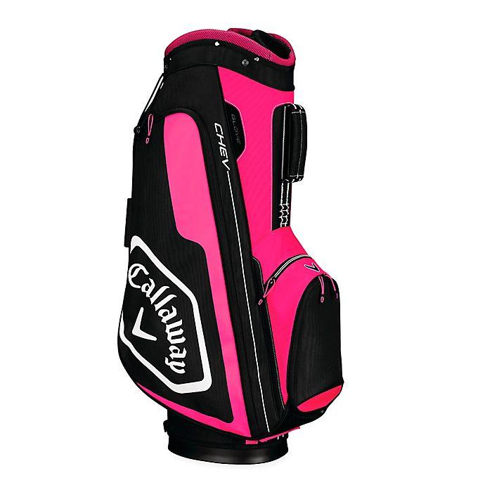 Alternate image 1 for Callaway® Chev Cart Golf Bag in Pink/Black
