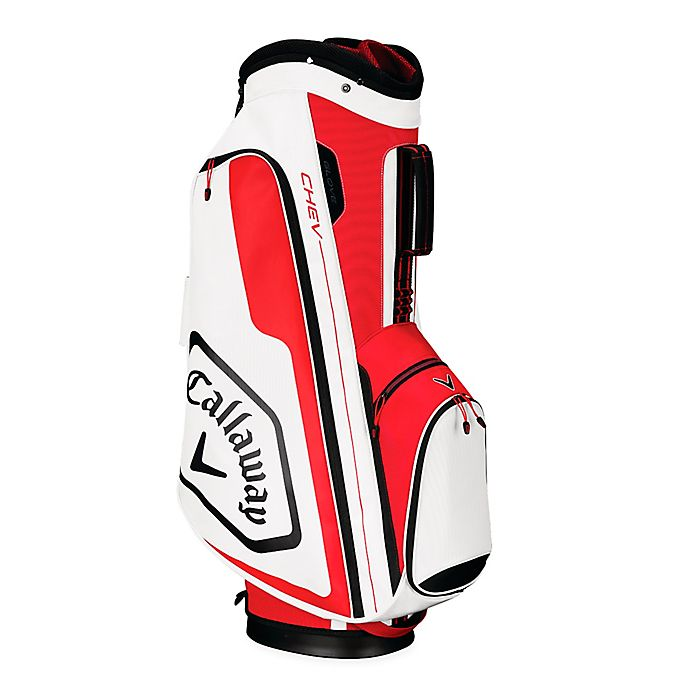 Alternate image 1 for Callaway® Chev Cart Golf Bag in Red/Black