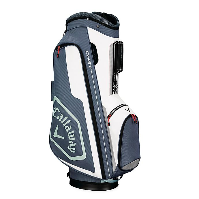 Alternate image 1 for Callaway® Chev Cart Golf Bag in White/Silver