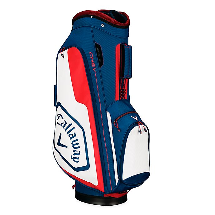 Alternate image 1 for Callaway® Chev Cart Golf Bag in Navy/Red