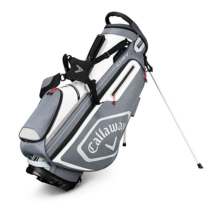Alternate image 1 for Callaway® Chev Stand Golf Bag in Titanium/Silver