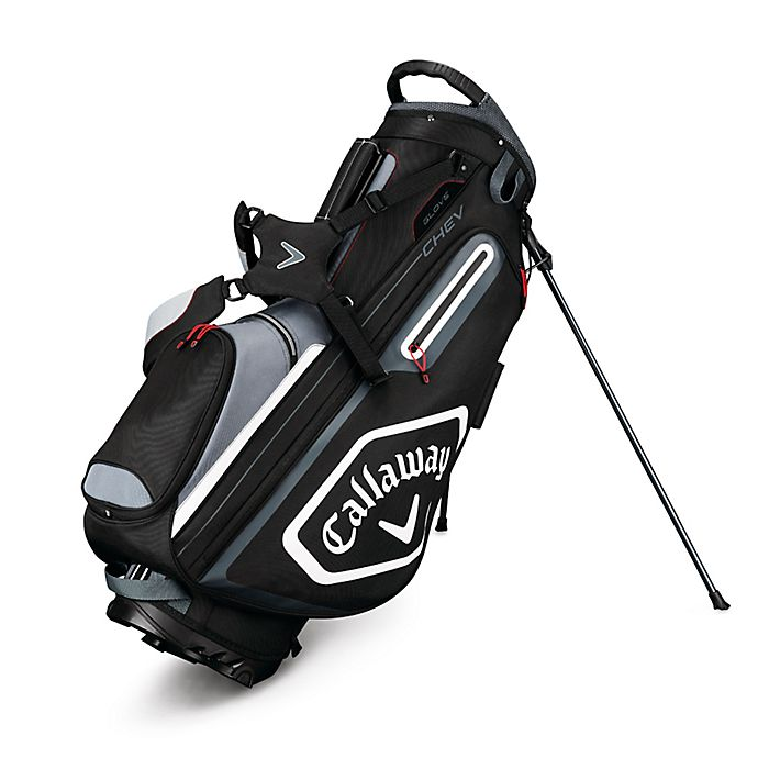 Alternate image 1 for Callaway® Chev Stand Golf Bag in Black/White