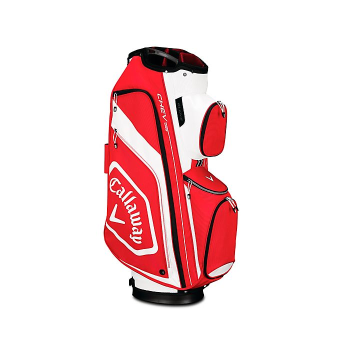Alternate image 1 for Callaway® Chev Org Cart Golf Bag in Red/White