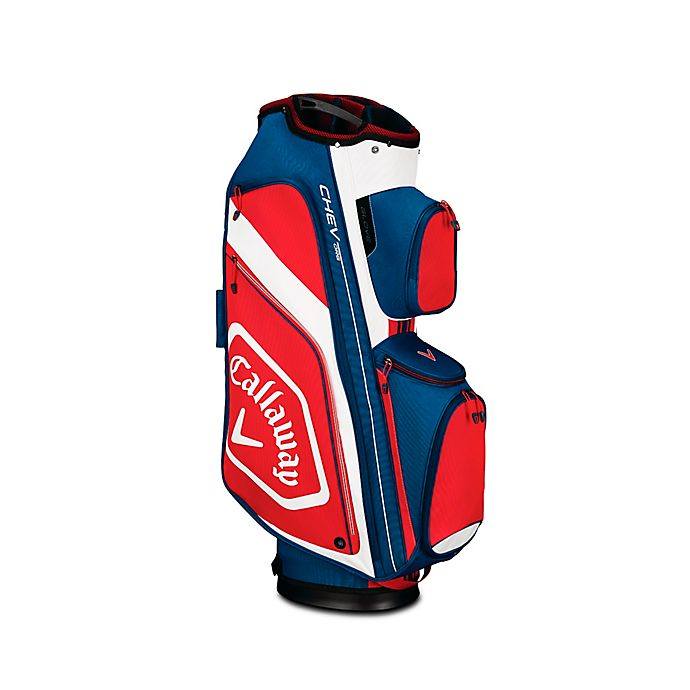 Alternate image 1 for Callaway® Chev Org Cart Golf Bag in Navy/Red