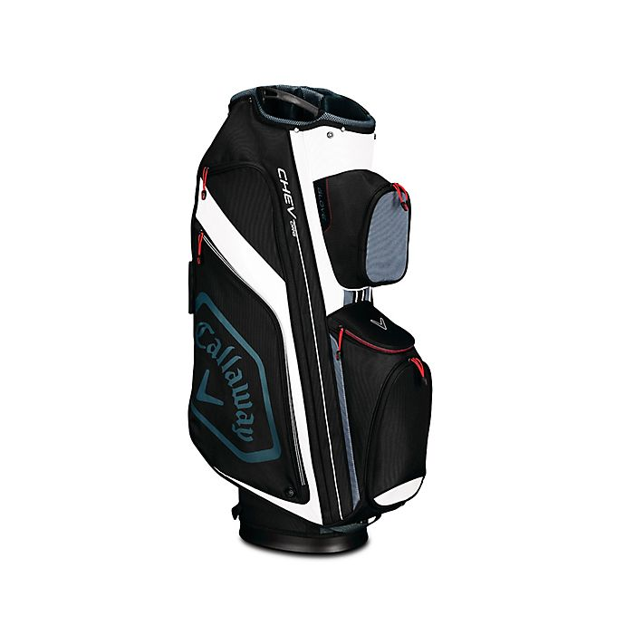 Alternate image 1 for Callaway® Chev Org Cart Golf Bag in Black/White