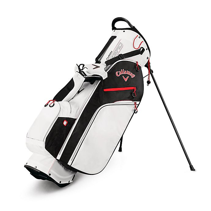 Alternate image 1 for Callaway® Fusion Zero Stand Golf Bag in White/Black/Red