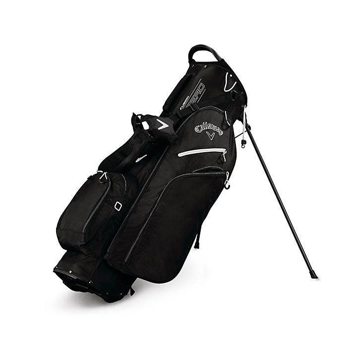 Alternate image 1 for Callaway® Fusion Zero Stand Golf Bag in Black/White