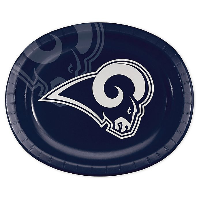 Alternate image 1 for NFL® 24-Count Los Angeles Rams Disposable Oval Plates