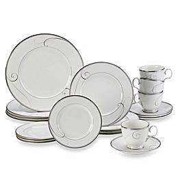 Noritake® Platinum Wave 20-Piece Dinnerware Set