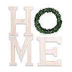 "Bee & Willow™ Home ""Home Letters with Wreath"" 21.75-Inch x 25-Inch Wood Wall Art"