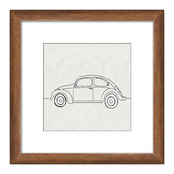 Alternate image 1 for PTM Images Car Sketch 14-Inch x 14-Inch Framed Wall Art