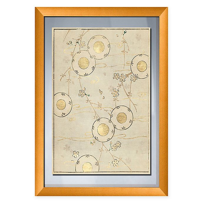 Alternate image 1 for PTM Images Gold Circles 19-Inch x 27-Inch Paper Framed Print in Gold