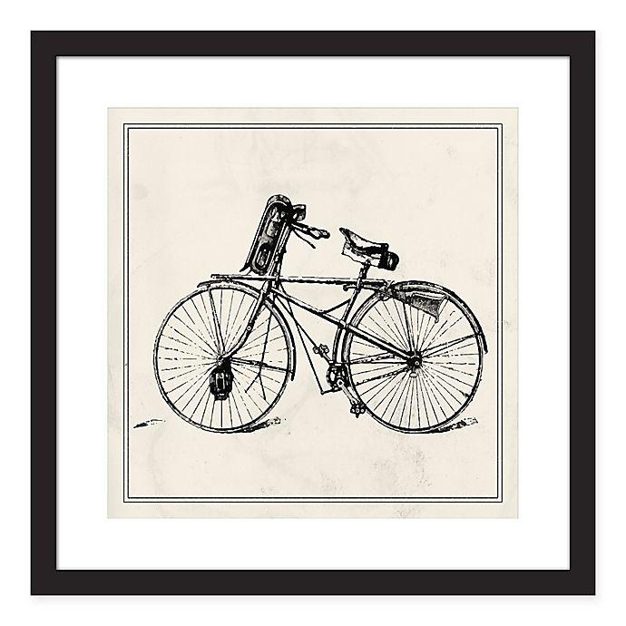Alternate image 1 for PTM Images Bike 18-Inch Square Print Wall Art in Black