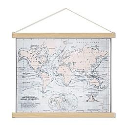 Vintage Map 17-Inch x 21.5-Inch Scroll Wall Art