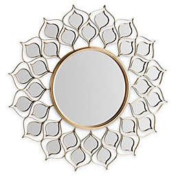 Southern Enterprises© Aida Round Sunburst 31-Inch Round Wall Mirror in Gold