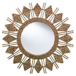 Southern Enterprises© Phoebe 35-Inch Round Sunburst Wall Mirror in Natural