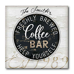 Courtside Market Coffee Bar 16-Inch Square Canvas Wall Art