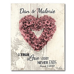 Courtside Market™ Love Story 16-Inch x 20-Inch Canvas Wall Art
