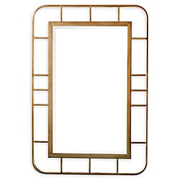 Southern Enterprises© Clara 27-Inch x 40-Inch Rectangular Decorative Wall Mirror in Gold