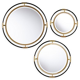 Southern Enterprises© Fergus 20-Inch Round Wall Mirror in Gold (Set of 3)