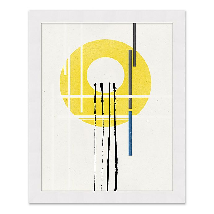Alternate image 1 for Yellow Circle 25.5-Inch x 31.5-Inch Framed Wall Art
