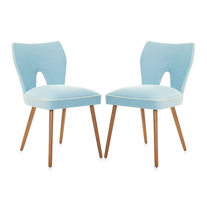 Awesome Safavieh Julia Dining Chair In Blue Set Of 2 Bed Bath Unemploymentrelief Wooden Chair Designs For Living Room Unemploymentrelieforg