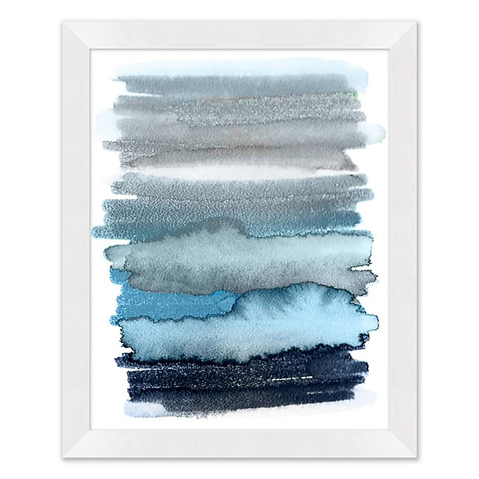 Alternate image 1 for Abstract Blue Ombre 25.5-Inch x 31.5-Inch Paper Framed Wall Art