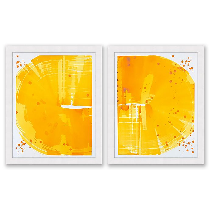 Alternate image 1 for Indian Yellow Crop 25.5-Inch x 31.5-Inch Framed Diptych Wall Art (Set of 2)